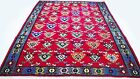 """Antique tribal vintage handmade hand-knotted kilim rug 87""""x 130"""" pure wool  #113"""