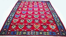"Antique tribal vintage handmade hand-knotted kilim rug 87""x 130"" pure wool  #113"