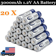 20 pcs X AA BTY Rechargeable Battery 3000mAh Ni-MH 1.2V US Fast Ship BP