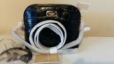 BNWT Michael Kors embossed leather Black Cindy dome bag with Detachable Strap