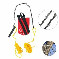 """48"""" High Limb Hand Chain Saw w/Blade Sharpener, Rope, Throwing Weight Pouch Bag"""