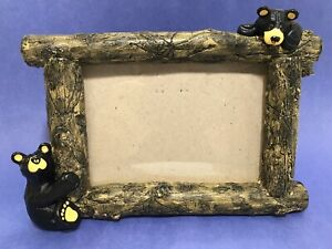 "Bearfoots Big Sky Carvers 4"" x 6"" Picture Frame by Jeff Fleming"