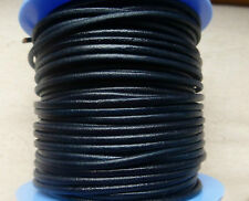 Dark Blue Genuine Leather cord 2mm thickness x 3 metre length excellent quality