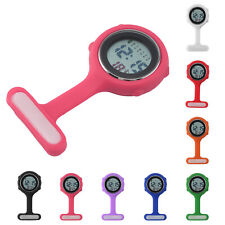 Colorful Multi function Digital Silicone Rubber Nurse Watch Fob Watch Boxed LCD