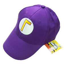 Super Mario Bros Waluigi Bad Luigi Letter Cap Sport Baseball Hat Summer Purple