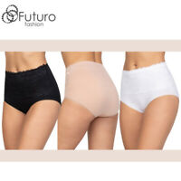 Womens Slimming Tummy Control Knickers High Waisted Shapewear Full Briefs FG9580