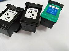 6x Ink Cartridge for HP 74XL 75XL Photosmart C4380 C4385 C4480 C4580 Printer