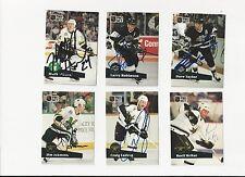 91/92 Pro Set Autographed Hockey Card Basil McRae Dallas Stars