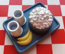 Vtg Fake Play Food Mini Popcorn Snack Tray Kitchen 3D Fridge Magnet