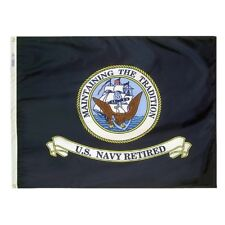 "Us Navy Retired Military Flag 3x4 ft ""Maintaining the Tradition"" Made In Usa"