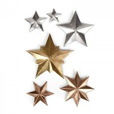 Sizzix Thinlits Troquelado conjunto dimensional estrellas 661595 6pk Tim Holtz