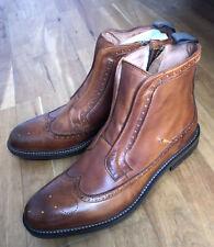 Oliver Sweeney ALCANENA COGNAC CALF LEATHER ZIP UP BOOT Size UK11 RRP £279