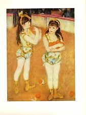 """1960 Vintage RENOIR """"TWO LITTLE CIRCUS GIRLS"""" LOVELY COLOR offset Lithograph"""