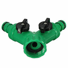Screw Hose Pipe Splitter 2 way Connector Adaptor Garden Turn Off Tube