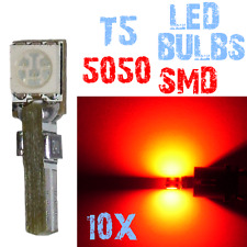 10 T5 5050 SMD LED Lampen Auto Dashboard Framework Geen CUS 12V ROOD 4A12 4A12.1