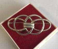 hübsche antike 800er Silber Brosche