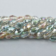 12x8mm Teardrop Briolette Crystal NORTHERN LtS AB full strand 21 bds bgl1577