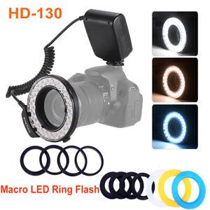 HD-130 Macro LED Ring Flash Light for Canon Nikon Canon Pentax Olympus Cameras