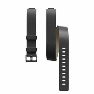 Fitbit Inspire HR & Inspire Horween Leather Double Wrap, One Size in Black