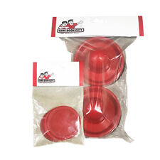"""Game Room Guys Two Red Air Hockey Pushers & Four Red 2-1/2"""""""