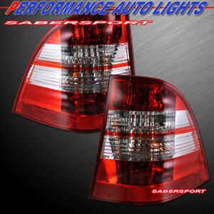 Set of Pair Red Clear Taillights for 1998-2005 Mercedes Benz W163 ML-Class
