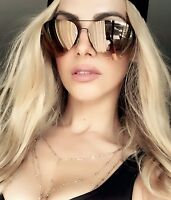"MIRROR Aviator "" LA MUSE "" Metal Frames Women Sunglasses Reflective Lens Shadz"