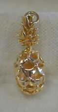 14K Gold Hawaiian Pineapple Charm Pendant