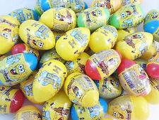 5 Eggs - Plastic SPONGEBOB Surprise Eggs with Toy & Candy Inside Perfect Gift