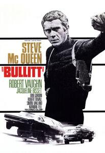 Bullitt Movie Poster, Steve McQueen