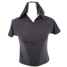 HELDMANN Damen Shirt Top Kapuze Gr S 36 Schwarz Elasthan Stretch Glanz NP 69 NEU
