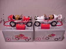Texaco 2 Pcs Set 1920s Botnick Pedal Car Racer 1 Red 1 White Matching Serial #