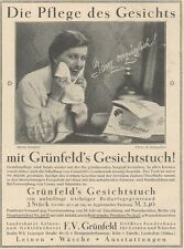 Y6655 GRUNFELD'S Gesichtstuch -  Pubblicità d'epoca - 1927 Old advertising