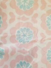 New Pottery Barn Vivian Pink Blue Flowers Floral Crib Sheet