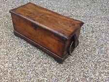 More details for antique camphor wood sea chest, sailors,low table with original rope handles