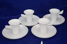 "Rosenthal Mythos Paul Wunderlich Lot of (4) Demitasse Cup, 3""  & Saucers, 5 3/4"""