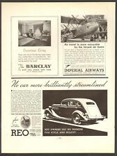 Reo Automobile JUN 1935 FLYING CLOUD Motor Car Original Print Ad Q01