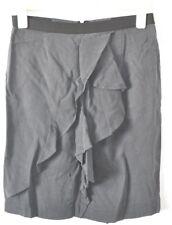 SUSSAN Skirt Sz 10 Medium Grey Ruffle Pencil Straight