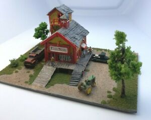 Z Scale Scratch Built Building Structure Feed Store free shipping Diorama
