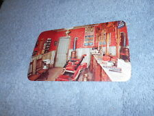( G ) VINTAGE / POST CARD / PIKES PEAK GHOST TOWN BARBER SHOP