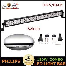 32inch 180W LED Light Bar OffRoad FOG Lamp SUV JEEP ATV Spot Flood Beam 240W 36W