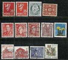 World Wide stamps from Norway - group of 13 issues
