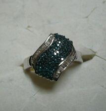 Blue & White Diamond Ring Sz. 7  108 diamonds 1.00tcw  MSRP$1853