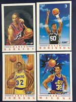 1991-92 Fleer Magic Johnson #6 Pro-Visions Insert Card HOF 4 Card Malone Barkley