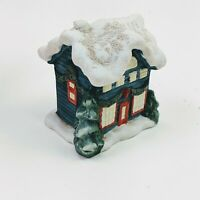 Vintage Victorian Christmas Village House Russ Berrie Porcelain Snowhouse In Box