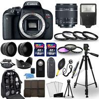 Canon EOS Rebel T7i SLR Camera + 18-55mm STM Lens + 30 Piece Accessory Bundle