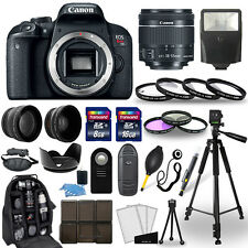 Canon EOS Rebel T7i SLR Camera + 18-55mm STM Lens + 30 Piece Accessory Bundle