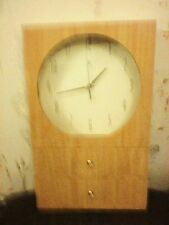 INFINITY CLOCK 2 DRAWER PINE CHEST QUARTZ MOVEMENT 48CM HIGH X 30CM WIDE 5 DEEP