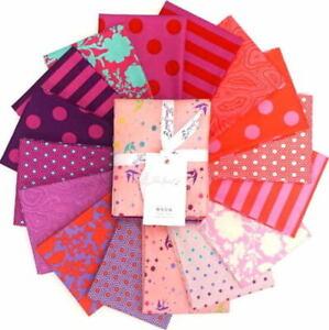 Free Spirit Tula Pink True Colors 16 Fat Quarters Bundle Flamingo Colorway