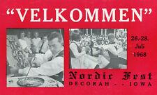 Carte ETATS UNIS DECORAH Iowa Velkommen Nordic Fest 26 28 Juli 1968