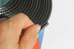 3m Chrome Silver Black Carbon Car Door Edge Protector Moulding Trim Van Strip
